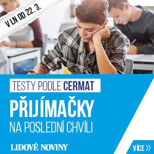 Přijímačky na SŠ na poslední chvíli - testy dle požadavků CERMAT