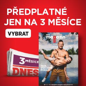 Předplatné MF DNES - 3 měsíce na zkoušku - magazín DNES+TV s Krpálkem