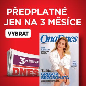 Předplatné MF DNES - 3 měsíce na zkoušku - ONA DNES