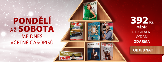 Předplatné MF DNES jako dárek: noviny od pondělí do soboty, každý den s jiným časopisem - cena: 392 Kč měsíčně