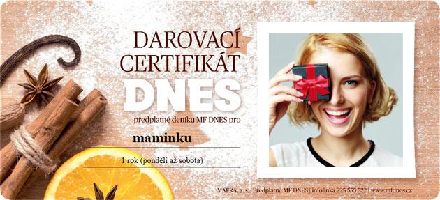 Darovací certifikát MF DNES