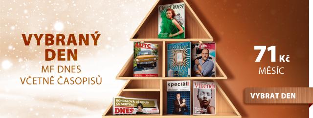 Předplatné MF DNES jako dárek: noviny dle výběru dnů, každý den jiný tematický časopis - cena 71 Kč / měsíc