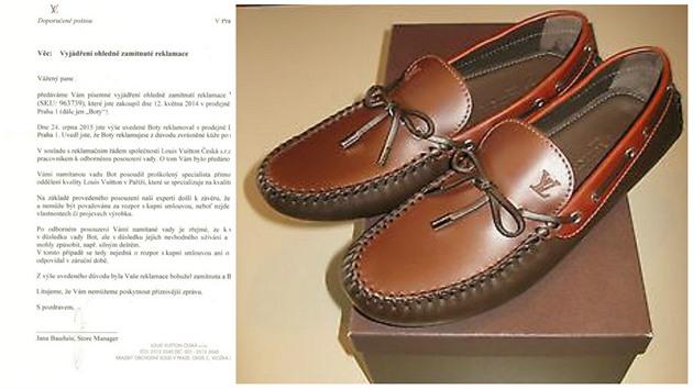 730cf96a26e Reklamoval boty značky Vuitton. Co mu odpověděli v dopise vás ...