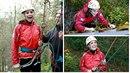 Kate Middleton podpořila dobrou věc a vrhla se na slaňování vysoké skály.