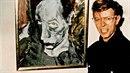 Bowie s jedním ze svých obrazů.