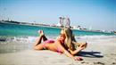 Dominika Myslivcová si užívá v Emirátech.