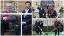 Zeman přijal čínského prezidenta v Lánech.