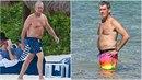 Pierce Brosnan a Michael Douglas vystavili po dlouhé zimě svá zakulacená...