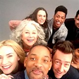 Hvězdné selfie Collateral Beauty: Kate Winslet, Will Smith, Edward Norton,...