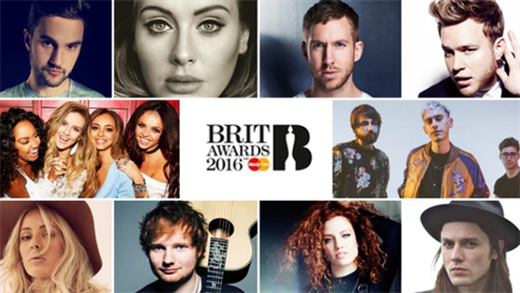 ONLINE PŘENOS: BRIT AWARDS 2016!