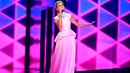 Gábina během semifinále Eurovize, podle mnohých si myslela, že je druhá Céline...