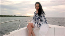 Lucie Bílá na lodi.