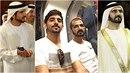 Premiér Spojených arabských emirátů se synem v londýnském metru.