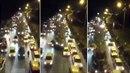 Tank přejíždí auta v Turecku během puče.