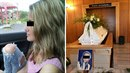 Matka zesnulé Simony sdílí fotku s rakví dcery na Facebooku.