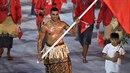 Vítězen v soutěžil o nejlepší kostým na zahájení OH se stává vlajkonoš Tonga.