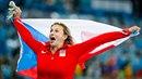 Barbora Špotáková slaví bronzovou medaili na olympiádě v Riu. Oštěpařka...