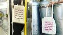 Taška s arabským názvem zaujala na internetu.