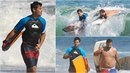 Alfa samec Taylor Lautner se předvedl na surfu.  Vedle oplácaného kamaráda...