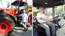 Veleba a jeho volební traktor.