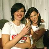 Jedny z nejkrásnějších Slovenek historie: Christová a Verešová v roce 2002.