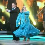 Ve slovenské taneční soutěži předvedla Christová největší faldíky, co kdy měla.