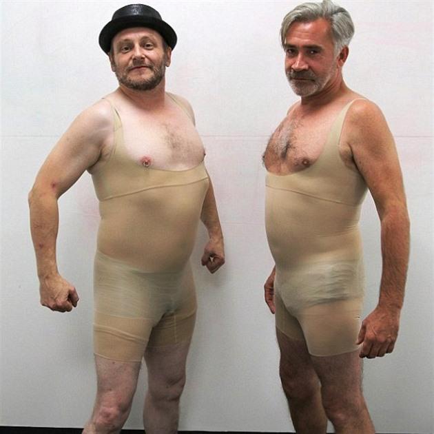 Siluetě zdar! Dva muži vyzkoušeli dámské stahovací prádlo. Co ... 9dbe5cdd63