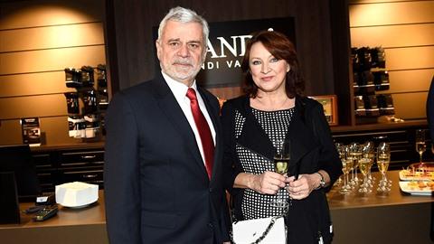 Štěpánek s manželkou Zlatou Adamovskou.