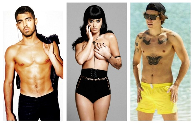 Joe Jonas, Katy Perry, Harry Styles