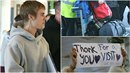 Bieber se na letišti rozloučil s fanoušku. S sebou si veze luxusní tequilu.