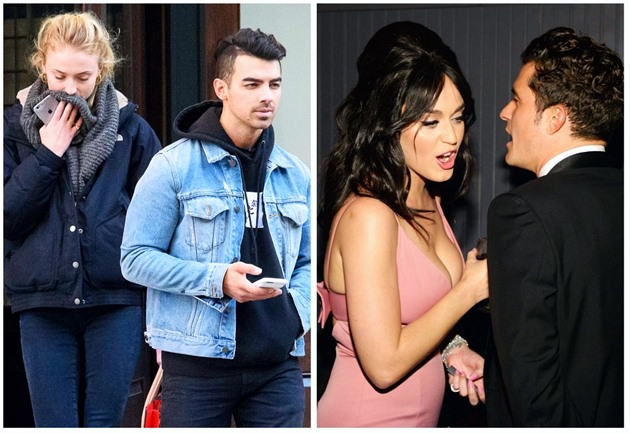Joe Jonas a Sophie Turner / Katy Perry a Orlando Bloom