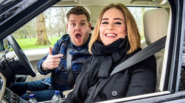 Adele a James Corden