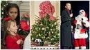 Obamovi a Vánoce.