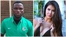 Ubong Ekpai, fotbalista Liberce, balil v Praze na letišti pornoherečku Lady Dee.