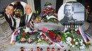 Na hrobě Václava Havla.