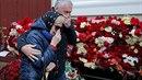 Květiny za zemřelé leteckého neštěstí.