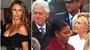 Bill Clinton měl oči jen pro novou první dámu. Jeho manželka Hillary tomu...