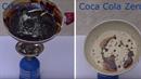 Tak takhle vypadá rozdíl mezi normální Coca Colou a Coca Colou Zero.