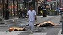 Mrtví po útoku v ulicích Stockholmu