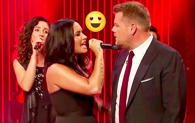 Demi Lovato a James Corden