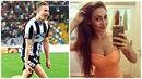 Česká hvězdička z Udine Jakub Jankto si hýčká sličnou přítelkyni Markétu.