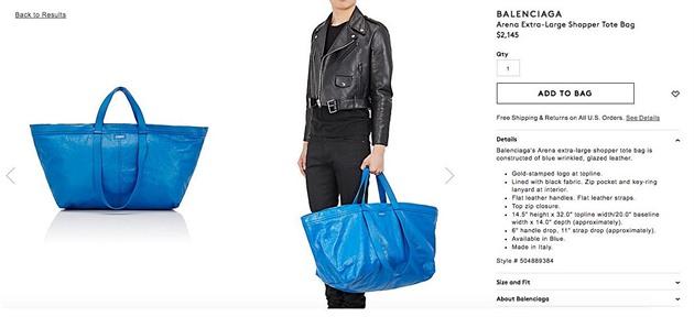 b3f75839f Módní fail dne: Luxusní kabelka stojí majlant, vypadá ale jako IKEA ...