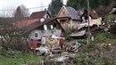 Typický pohled na slovenskou romskou osadu. Tato je v lokalitě Čierny Balog.