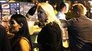 Monika Štiková po očku sledovala dění ve VIP části.