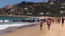 Ve španělsku se vylodili migranti na pláži.
