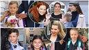 Celebrity vedly své ratolesti do školy.