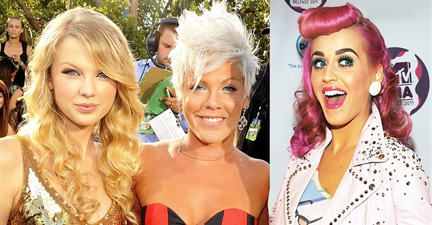 Katy Perry versus Taylor Swift a Pink