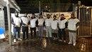Skupina migrantů kurdského a íránského původu se rozhodlo držet hladovku pro...