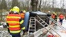 U tragické nehody v Norberčanech zemřela řidička. Na místě pomáhali i vojenští...