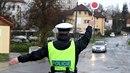 Policejní kontrola na silnici